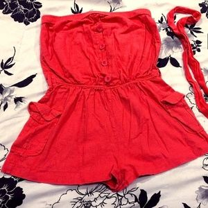 Forever21 One piece w/ belt (s)
